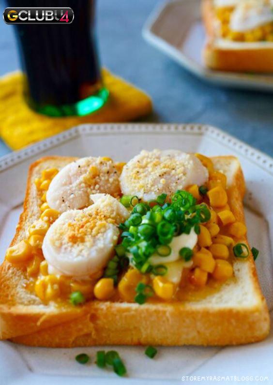 ปังปิ้งหอยเชลล์สไตล์ญี่ปุ่น