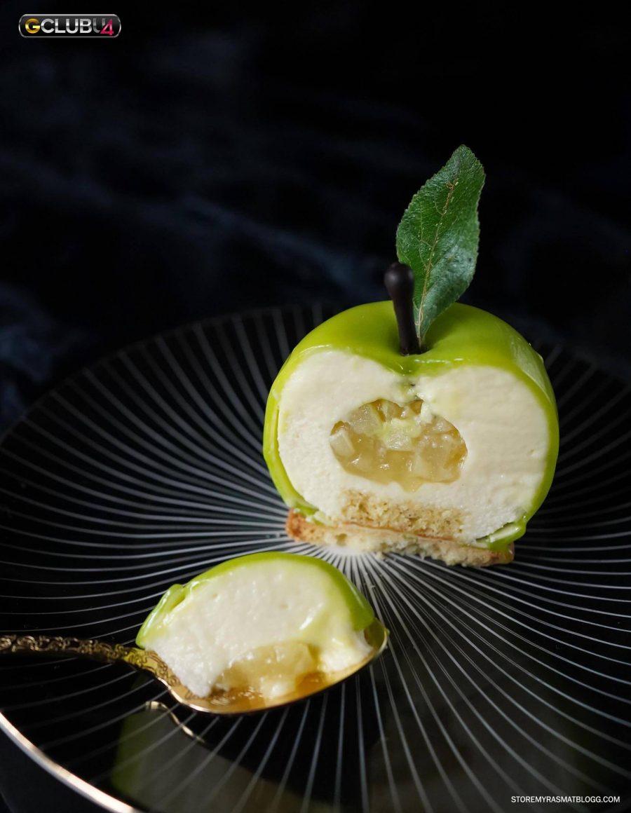 ทาร์ตแอปเปิ้ลเขียว มูสแอปเปิ้ลเนื้อบางเบา